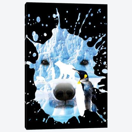 Polar Bear With Penguin Canvas Print #APZ587} by Alberto Perez Canvas Art Print