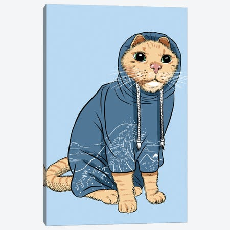 Cat With Tracksuit Canvas Print #APZ591} by Alberto Perez Canvas Print