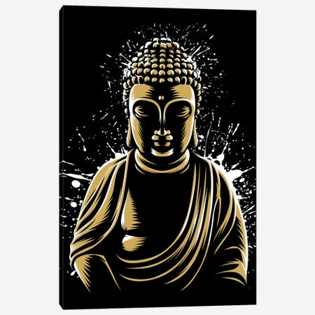 Golden Buddha Canvas Print #APZ595} by Alberto Perez Canvas Wall Art