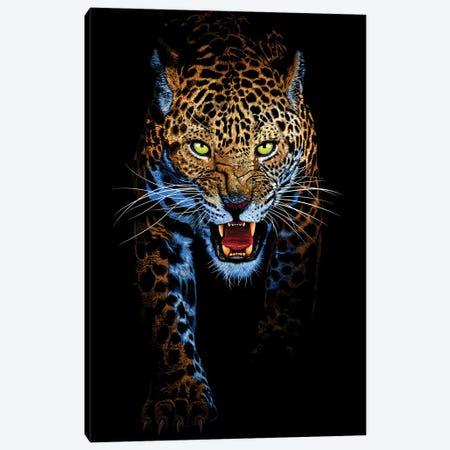 Leopard Stalking Canvas Print #APZ620} by Alberto Perez Art Print