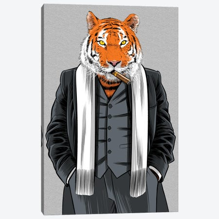Gangster Tiger Canvas Print #APZ64} by Alberto Perez Canvas Print