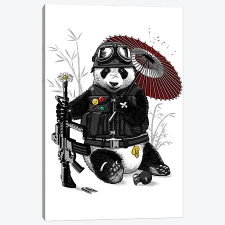 Military Panda 3-Piece Canvas #APZ68} by Alberto Perez Canvas Wall Art