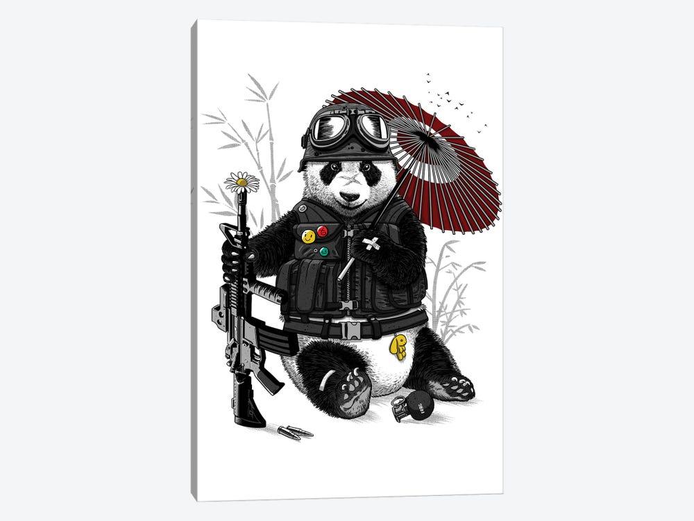 Military Panda by Alberto Perez 1-piece Canvas Print
