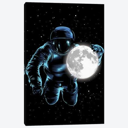 Astronaut Moon Canvas Print #APZ6} by Alberto Perez Canvas Artwork