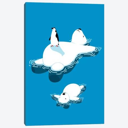 Family Polar Bear Canvas Print #APZ73} by Alberto Perez Art Print
