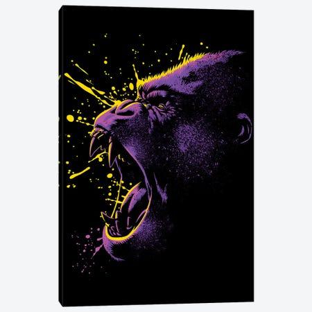 Retro Gorilla Canvas Print #APZ79} by Alberto Perez Art Print