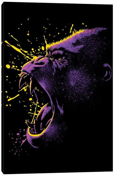 Retro Gorilla Canvas Art Print