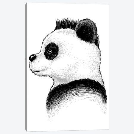 Punk Panda Canvas Print #APZ80} by Alberto Perez Canvas Wall Art