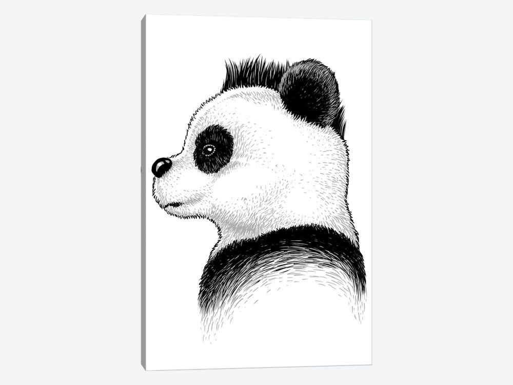 Punk Panda by Alberto Perez 1-piece Art Print