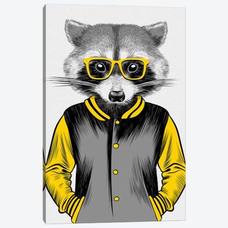 University Raccoon Canvas Print #APZ81} by Alberto Perez Canvas Artwork