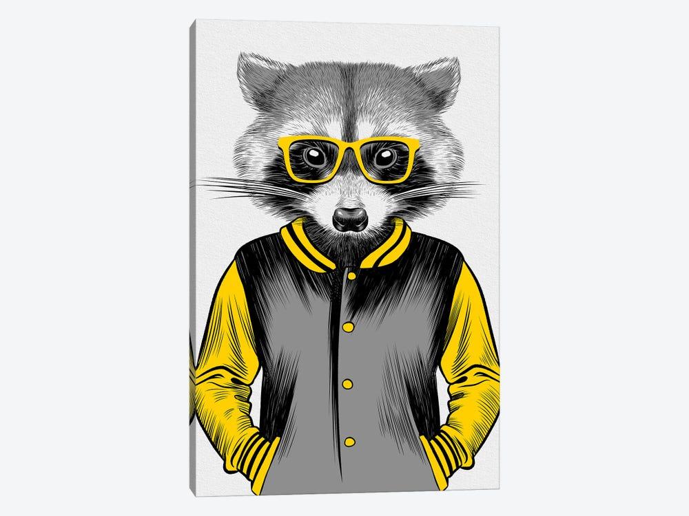 University Raccoon by Alberto Perez 1-piece Canvas Artwork