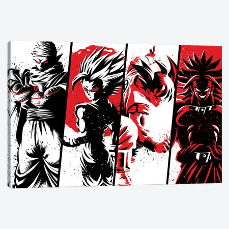 Red Warriors Canvas Print #APZ88} by Alberto Perez Canvas Wall Art