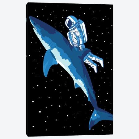 Great Shark Astronaut Canvas Print #APZ8} by Alberto Perez Canvas Print