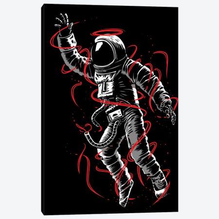 Astronaut Red Lines Canvas Print #APZ9} by Alberto Perez Art Print
