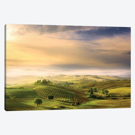 Podere Belvedere's Sunrise Canvas Print #ARB1} by Arnaud Bratkovic Canvas Wall Art