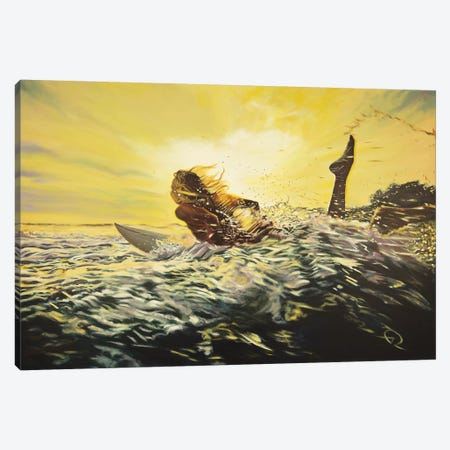 Gone Surfing Canvas Print #ARE15} by Antoine Renault Canvas Artwork