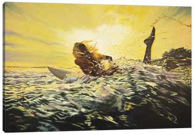 Gone Surfing Canvas Art Print