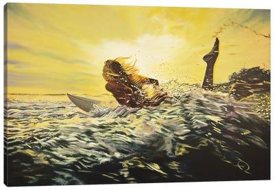Gone Surfing Canvas Art Print