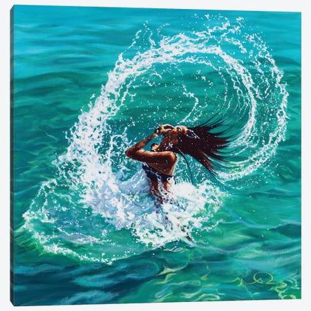 Hair Splash Canvas Print #ARE16} by Antoine Renault Canvas Artwork