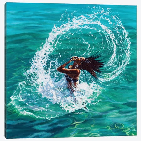 Hair Splash Canvas Print #ARE16} by Antoine Renault Canvas Artwork