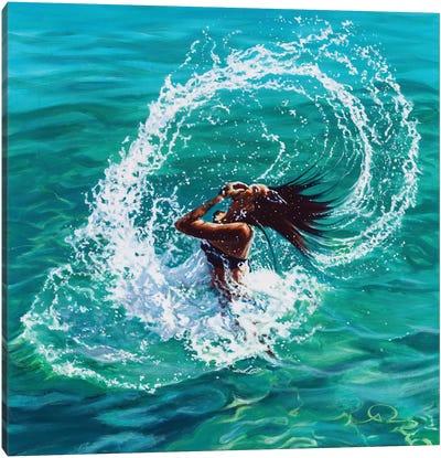 Hair Splash Canvas Art Print