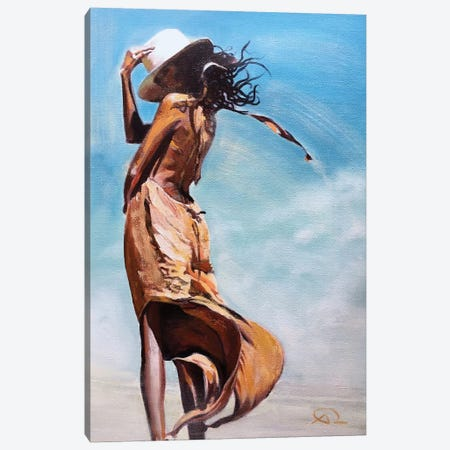 Jesi's Hat Canvas Print #ARE17} by Antoine Renault Canvas Artwork