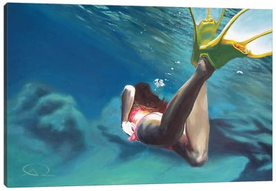 L'Âme Adore Nager Canvas Art Print