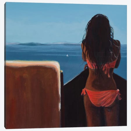 Nea Kameni Canvas Print #ARE24} by Antoine Renault Canvas Print
