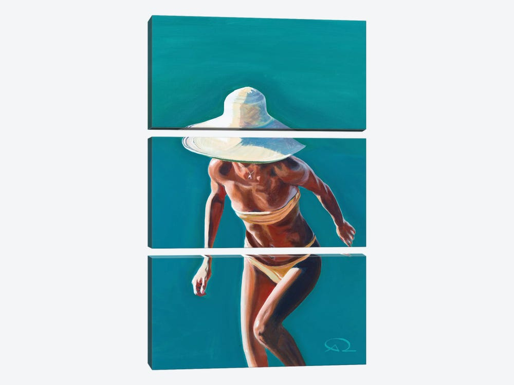 Nice Hat by Antoine Renault 3-piece Art Print