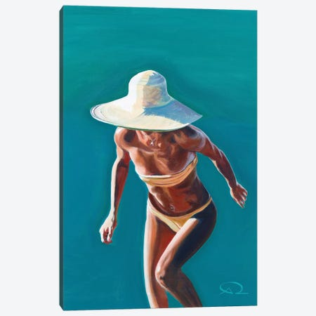 Nice Hat 3-Piece Canvas #ARE25} by Antoine Renault Canvas Art Print