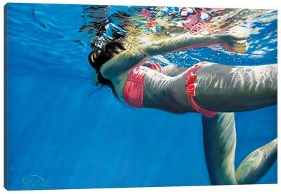 Pink Mermaid Canvas Art Print