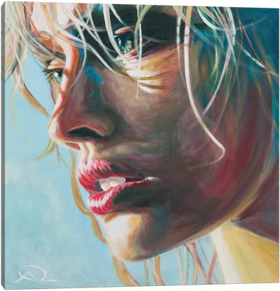 Salt On Your Lips Canvas Art Print