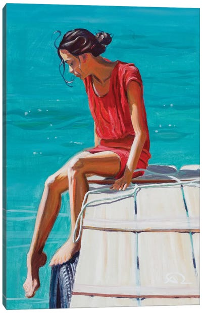 Testing Waters Canvas Art Print