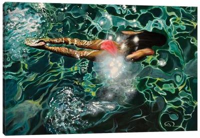Under The Levrossos Pier Canvas Art Print