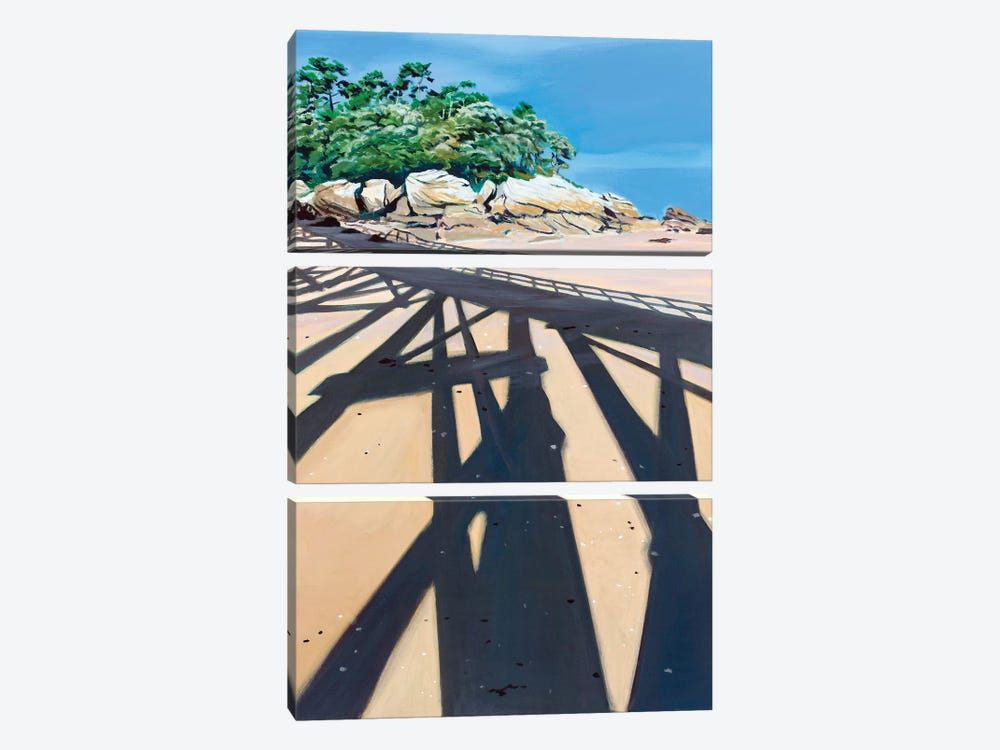 In The Shadow High Dive by Antoine Renault 3-piece Canvas Wall Art