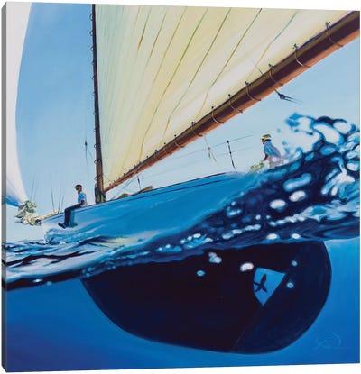 Chillin In The Blue Canvas Art Print