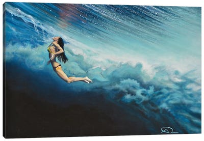 Dancing Beneath The Clouds Canvas Art Print