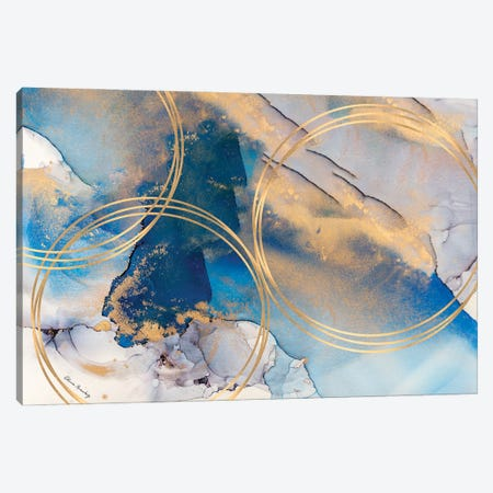 Circles Of Gold  Canvas Print #ARG3} by Alissa Rosenberg Art Print