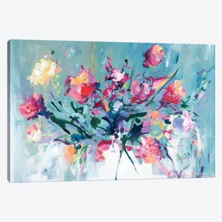 Courage To Bloom Canvas Print #ARH14} by Amira Rahim Art Print