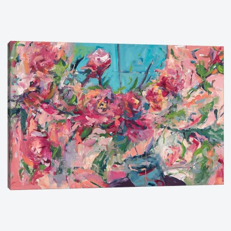 Flowers On The Windowsill Canvas Print #ARH16} by Amira Rahim Canvas Print
