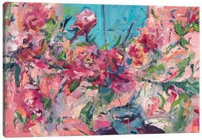 Flowers On The Windowsill Canvas Art Print