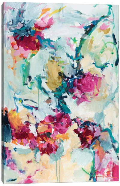 Jade Blossoms Canvas Art Print