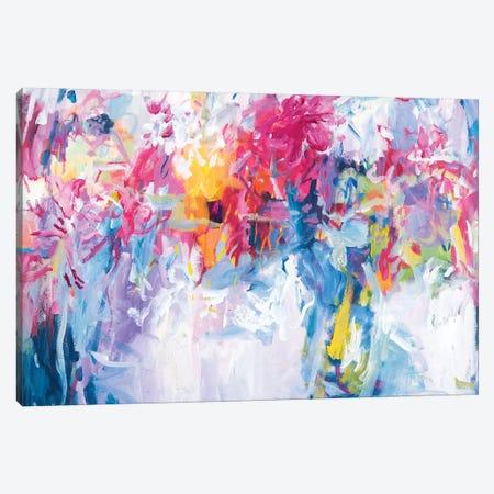 Lavender Flowers In My Hand Canvas Print #ARH32} by Amira Rahim Canvas Artwork