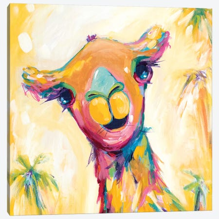 Camel Babe Canvas Print #ARH8} by Amira Rahim Canvas Artwork