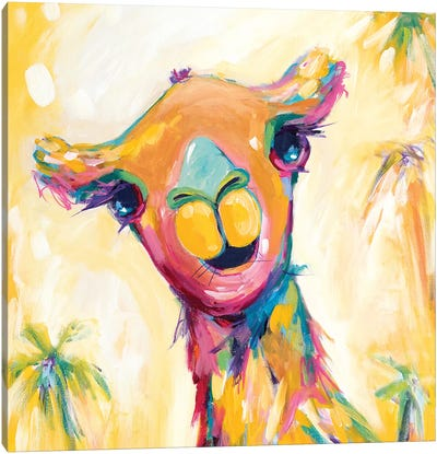Camel Babe Canvas Art Print