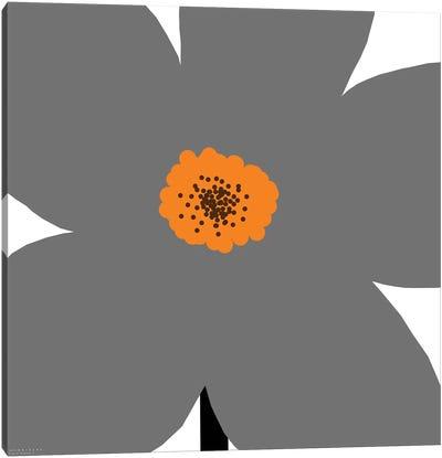 Gray Flower Canvas Art Print