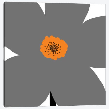Gray Flower Canvas Print #ARM102} by Art Mirano Canvas Wall Art