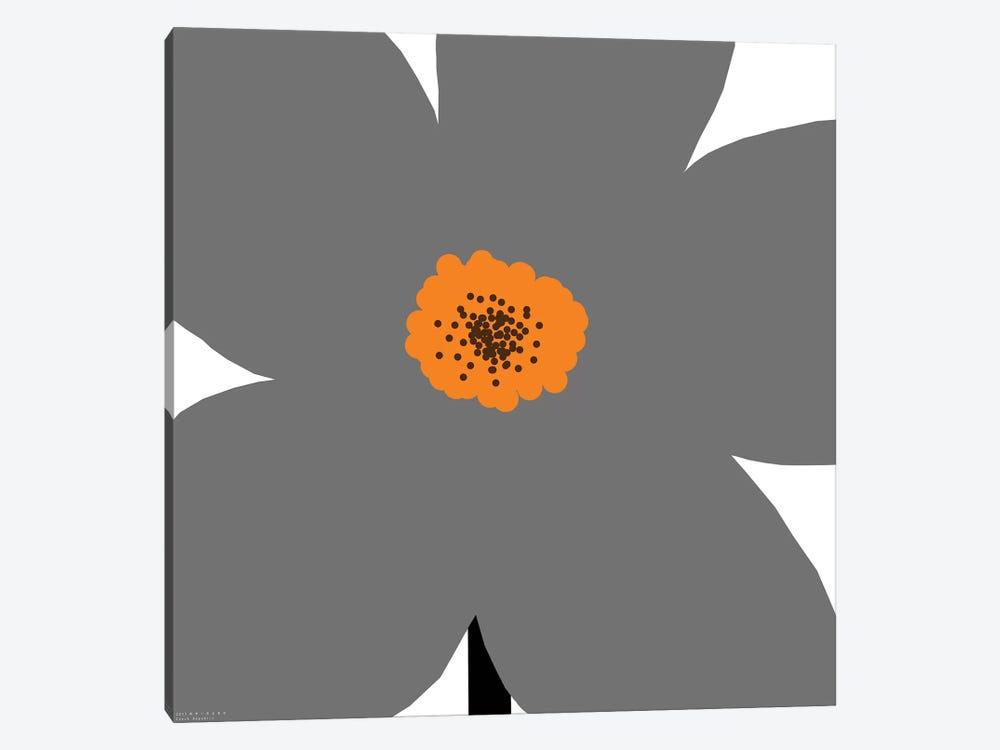 Gray Flower by Art Mirano 1-piece Art Print