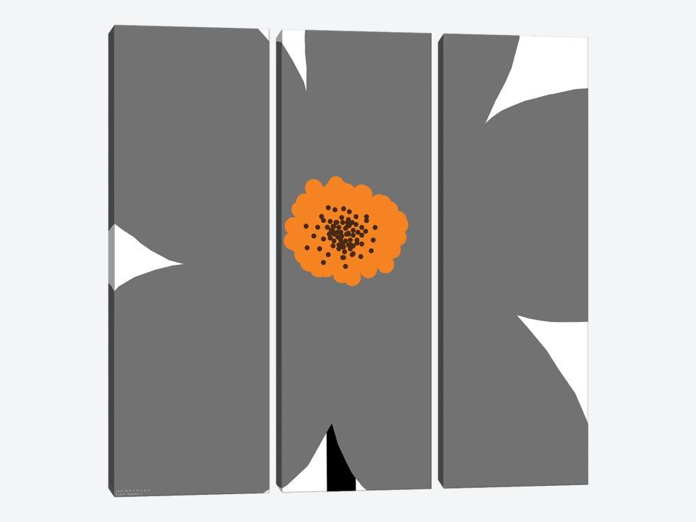 Gray Flower by Art Mirano 3-piece Art Print