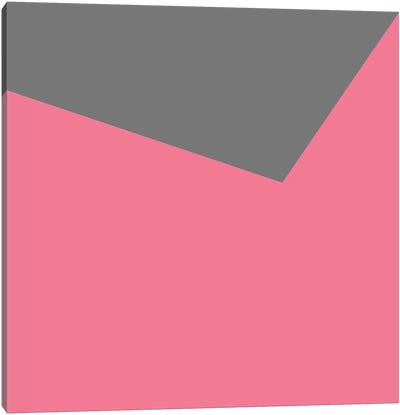 Mirra Gray Pink Canvas Art Print